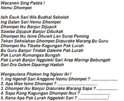 Berikut ini kunci jawaban soal ulangan akhir semester (uas) bahasa indonesia kelas 3 sd. Kumpulan Soal Ukk Bahasa Jawa Sd Kelas 1 2 3 4 5 Lengkap Dengan Kunci Jawaban Blognya Abiey Kayla