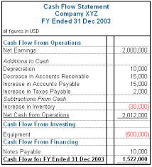 cash flow statements fundamental analysis of the cash flow statement assignment point