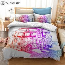 3d bedding set geometric hippie peace