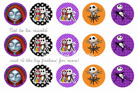 Nightmare Before Christmas bottlecap images (FREE) | Círculos ...