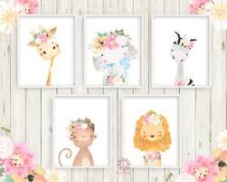 5 boho zebra elephant giraffe baby girl nursery wall art print ethereal whimsical monkey lion bohemian on baby girl nursery wall art with 5 boho zebra elephant giraffe baby girl nursery wall art print