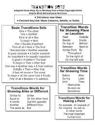 best transition words for essays ideas english transition words for writing folders fourth grade bies from the high tech teacher