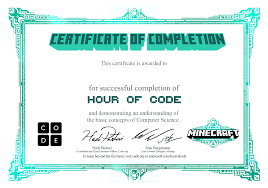 Certificate Of Completeion Code Org
