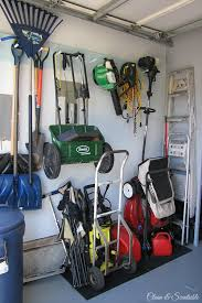 lawn mower garage storage. Organized Garage Space For Yard Equipment Intended Lawn Mower Storage