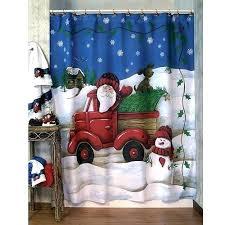 shower curtain santa suit
