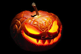 scary pumpkin carving with teeth