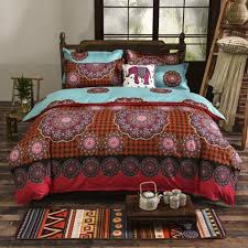 com memorecool 2016 new boho style bedding set modern fl printed 4 pieces boho bedding set elegant exotic quilt covers set home kitchen
