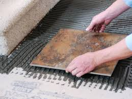 How To Tile A Bathroom Floor Video Laying A New Tile Floor How Tos Diy