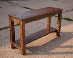 Rustic sofa table with drawers Rustic console table