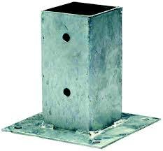 Poteau bois carré pour palissade bois 7x7 cm idéal pour la construction de palissades en bois autoclave. Support De Poteau A Visser Burger 7 X 7 Cm Grillage Cloture Portail Grillage Occultation Jardin Exterieur