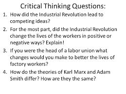 friday mr lombardi aim how did the  how did the industrial revolution lead to competing ideas
