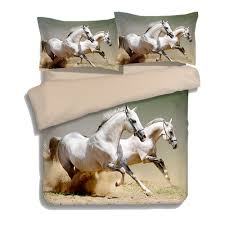 3d bedding sets single twin queen king size bedclothes bed linen dark horse printing duvet cover