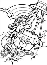 My Little Pony In Een Luchtballon Kleurplaat Jouwkleurplaten