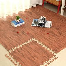 6pcs set eva foam baby play mat wood grain playmat interlocking exercise gym floor waterproof rug crawling mat in play mats from toys hobbies on