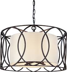 troy lighting f1285db deep bronze sausalito 5 light drum pendant with fabric shade lightingdirect com