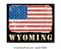 american flag word art gold wyoming enamel sign wyoming word in gold with grungy american