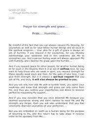 prayer for strength and grace pride humility  word of god through bertha dudde 8589 prayer for strength and grace