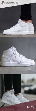Nike Air Jordan 1 All White Womens Size 8 Shoes Brand New