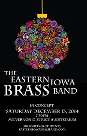 Christmas Concert Poster Christmas With The Eibb Eastern Iowa Brass Band