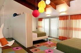 cool contemporary kids bedroom with colorful lighting additions childrens room lighting