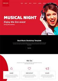 Music Website Templates Stunning Music Website Template Free Download WebThemez