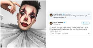 james charles does it pennywise makeup tutorial and gets dragged vogue