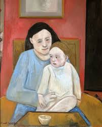 walker mother and child oil on canvas 20x16 1000 framed jpg