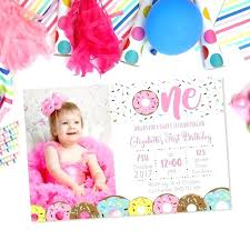 digital invitation personalised party s first 1st birthday invitations