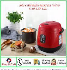 Nồi cơm điện mini gia đình 1.2L cho 1-3 người ăn, nồi cơm điện mini đa  năng, nồi cơm điện giá rẻ