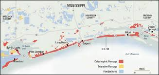 katrina one year later three perspectives southern spaces map of mississippi coastal damage after hurricane katrina 2005