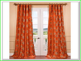burnt orange curtains and ds
