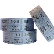 2 part raffle tickets 2 part raffle tickets blue