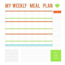 Free Printable Meal Plan Template Free Meal Plan Template Healthy Example Templates Printable