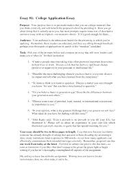 Example Of Admission Essays Example Of A College Admission Essay College Admissions Essays