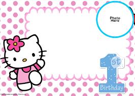 invitation for birthday o kitty new free o kitty 1st birthday invitation template