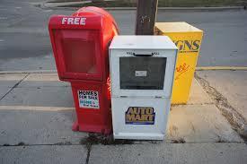 Newspaper Vending Machines For Sale Enchanting Newspaper Vending Racks Locally Grown LoGro Northfield
