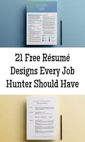 Resume Designs Stunning 48 Free Résumé Designs Every Job Hunter Needs