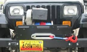 warn on a yj warn 8274 install on a jeep wrangler mounted winch photo