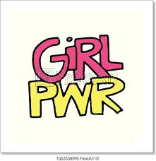 Free Art Print Of Girl Power Illustration Girl Power Vector