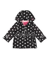 London Fog Black White Heart Jacket Infant Toddler Girls