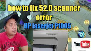 HOW TO FIX PRINTER HP LASERJET P1005 52.0 SCANNER ERROR / HP LASERJET  P1102W 52.0 SCANNER ERROR - YouTube
