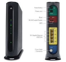 motorola 8x4 cable modem. mg7315 8x4 343 mbps + n450 wifi cable modem motorola e