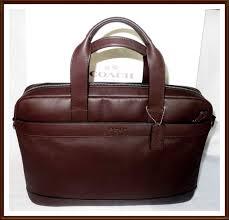 nwt coach f54801 hamilton leather briefcase messenger cross bag mahogany