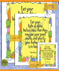 Let Your Light Shine Lds Primary Matthew 5 16 Let Your Light Shine Scripture Posters And