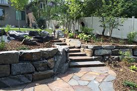 riverstone mining flagstone patio walkway natural stone retaining wall