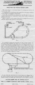 american flyer track layouts traindr American Flyer Wiring Diagrams american flyer directions for wiring reverse loops american flyer wiring diagrams diesel