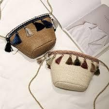 <b>Women</b> Small <b>Tassel</b> Crossbody <b>Straw</b> Bag <b>Woven</b> Handbag SD ...