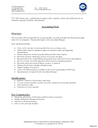 Entry Level Accounts Payable Resume Sample Cover Letter Picture