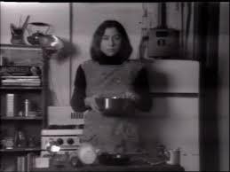 Wonderful Martha Rosler, »Semiotics Of The Kitchen«, 1975, S VHS, B/w, Mono,  00:05:32, ZKM | Center For Art And Media. / © Martha Rosler