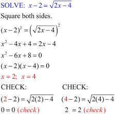 radical equations algebraic cube